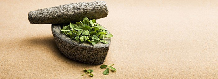 stones with herbs